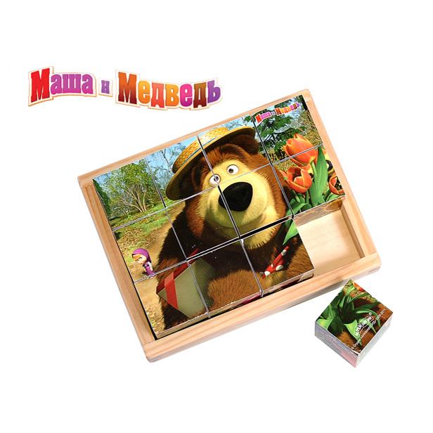 """Развивающая игрушка """"Маша и медведь"""" Веселые кубики в ассортименте 12 шт. с 12 мес."""