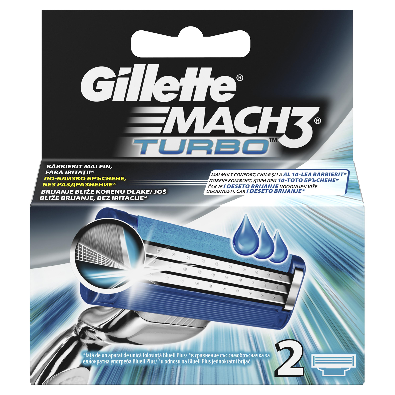 Cменные кассеты для бритья Gillette MACH3 Turbo 2 шт<br>