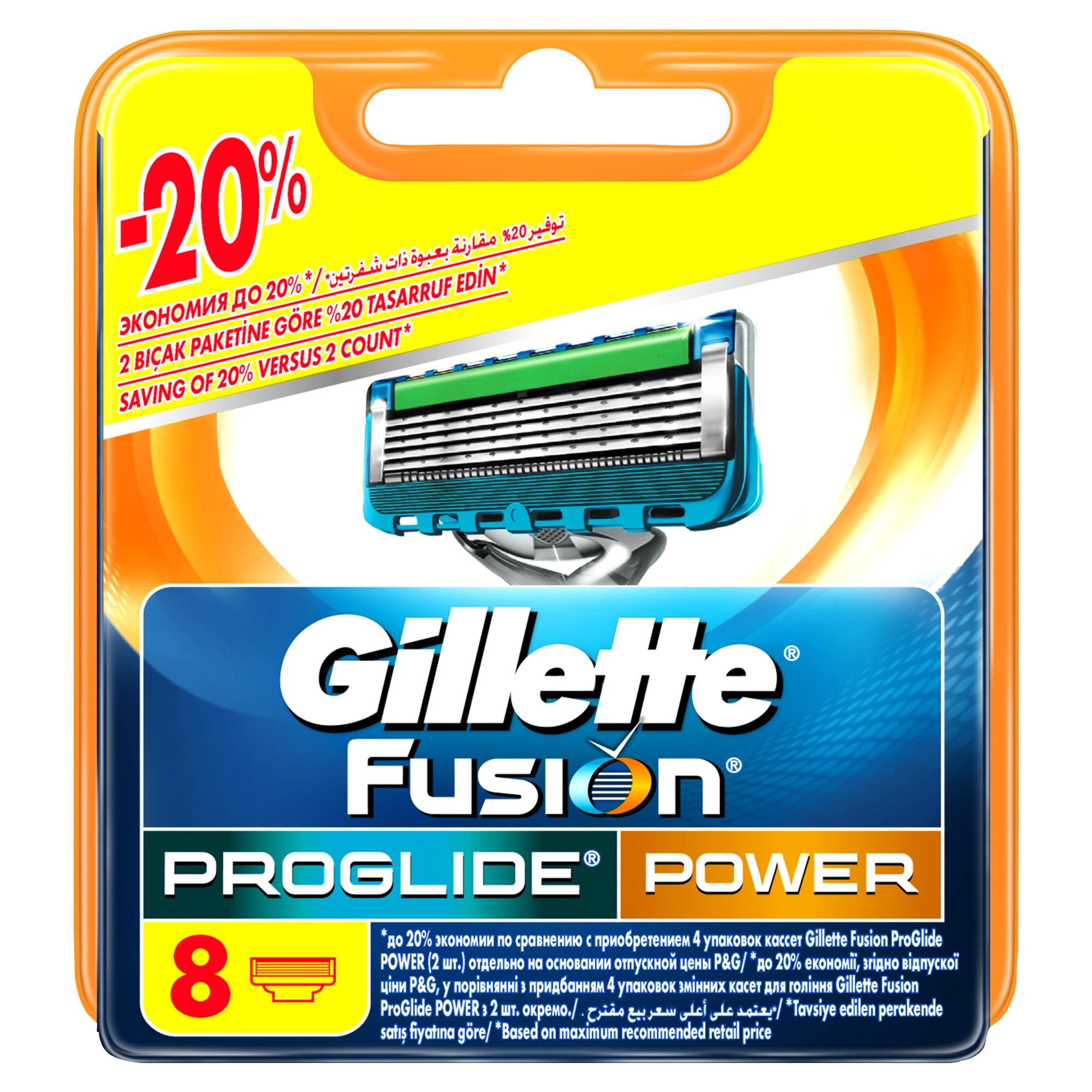 Сменные кассеты для бритья Gillette Fusion ProGlide Power Power 8 шт<br>