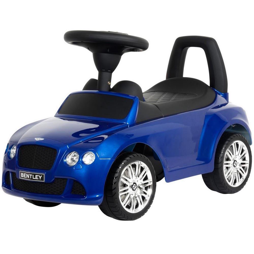 Каталка-автомобиль RT Bentley с музыкой Синий Металлик