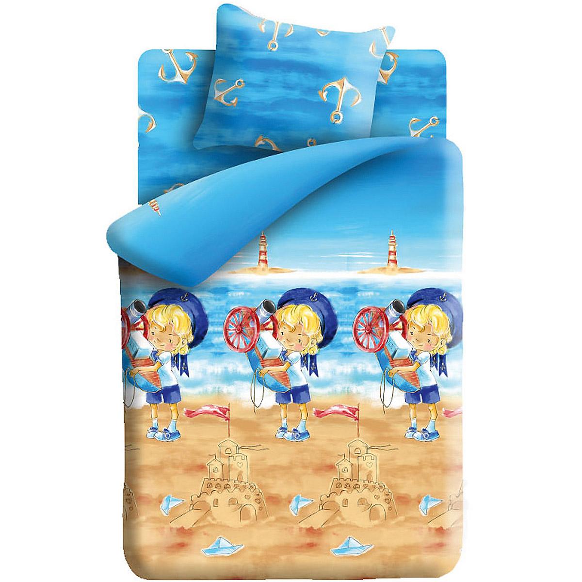 Комплект постельного белья 1,5 Непоседа КПН-10 Морячок<br>