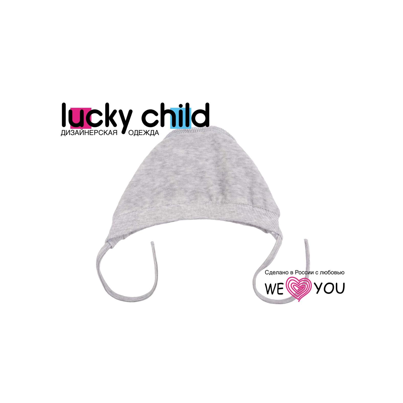 Чепчик из велюра Lucky Child, цвет серый размер 47<br>