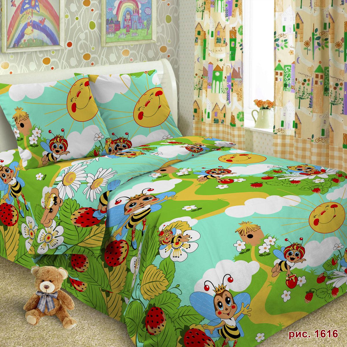 Комплект постельного белья детский Letto Пчела<br>