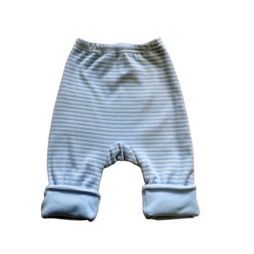 """Штанишки утепленные Soni Kids """"Веселые полосатики"""", цвет голубой, полоска 6-9 мес."""