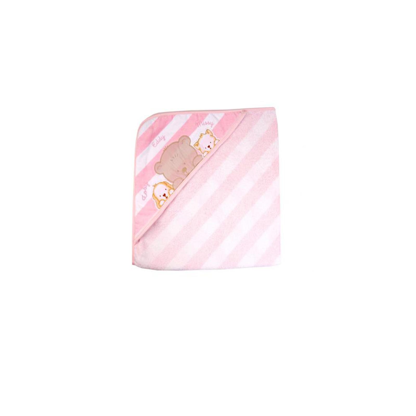 Полотенце-уголок махровый Непоседа Friends 90*90 см Розовое