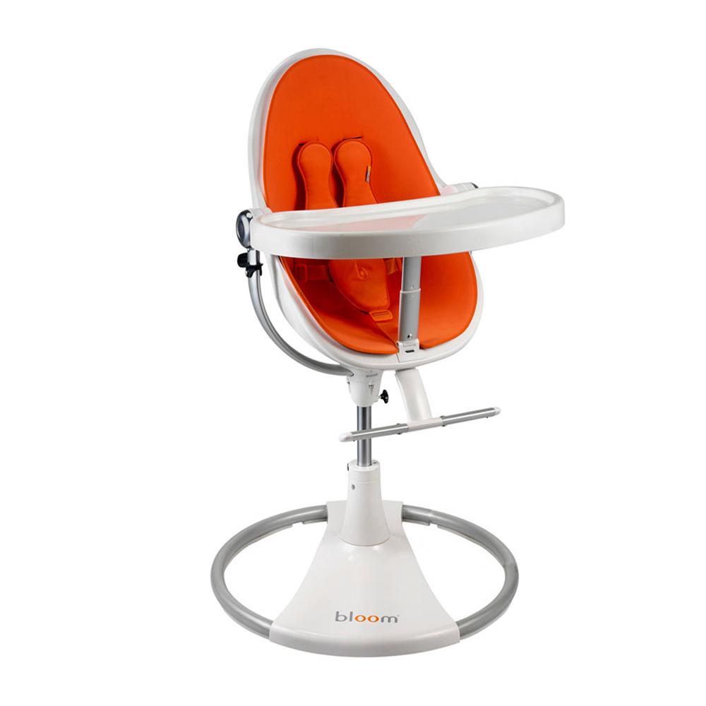 Стульчик для кормления Bloom Fresco Chrome Noir Harvest Orange<br>