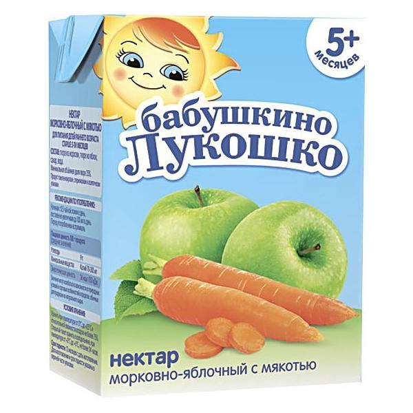 Нектар Бабушкино лукошко 200 мл (тетрапак) Морковь яблоко (с 5 мес)<br>