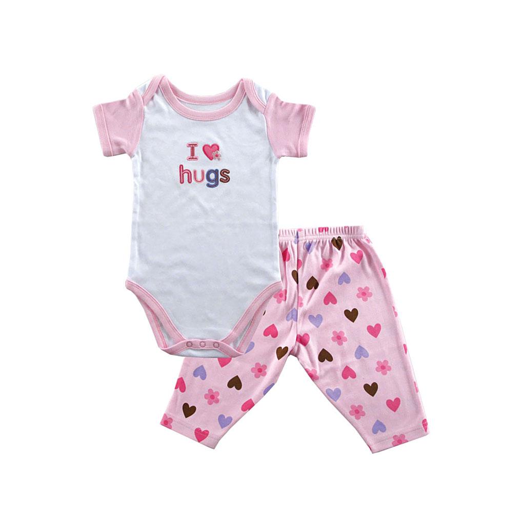 Комплект Hudson Baby Боди короткий рукав и штанишки Пирожное, 2 пр.. для девочки, цвет розовый 9-12 мес. (72-78 см)
