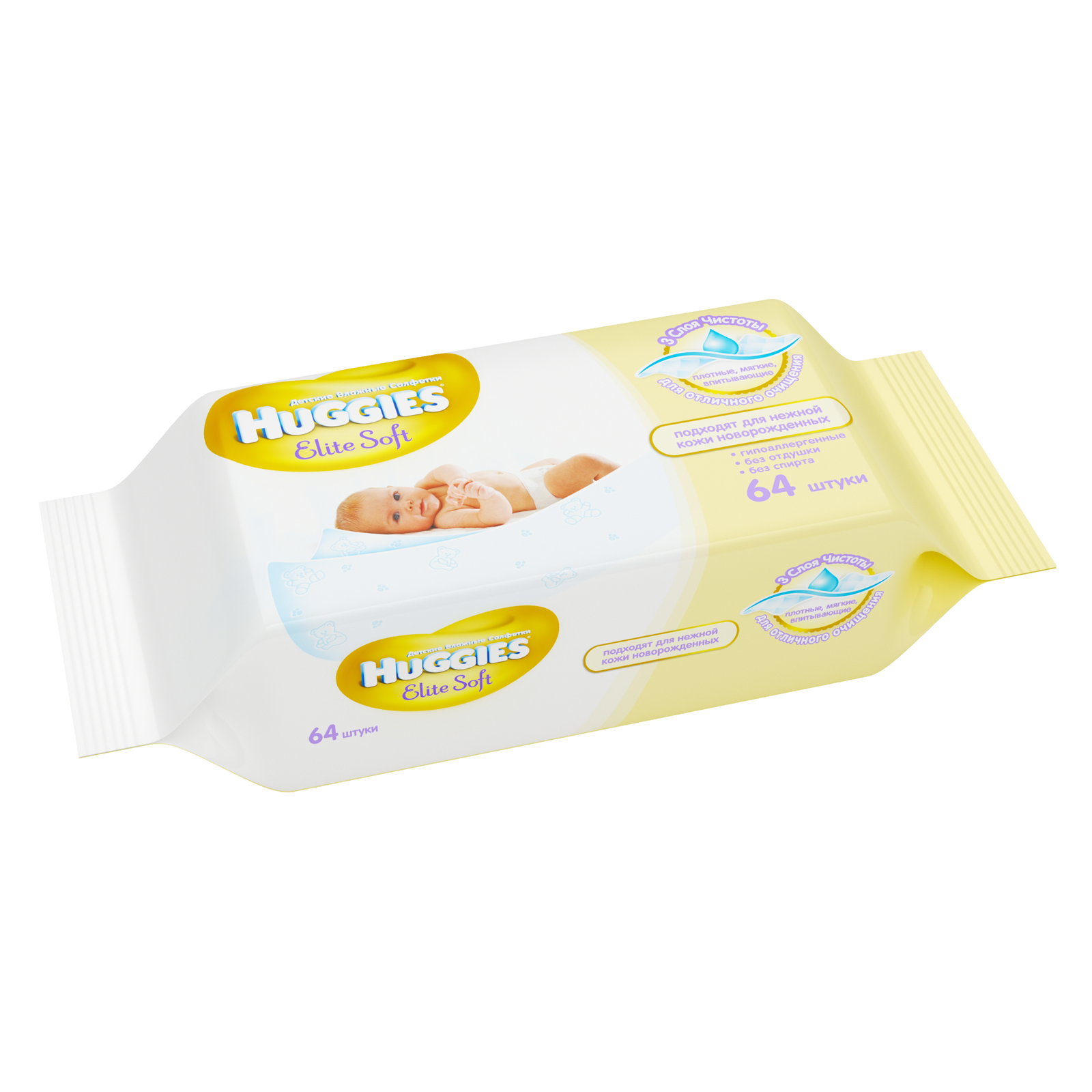 �������� ������� Huggies  Elite Soft � �������� 64 ��