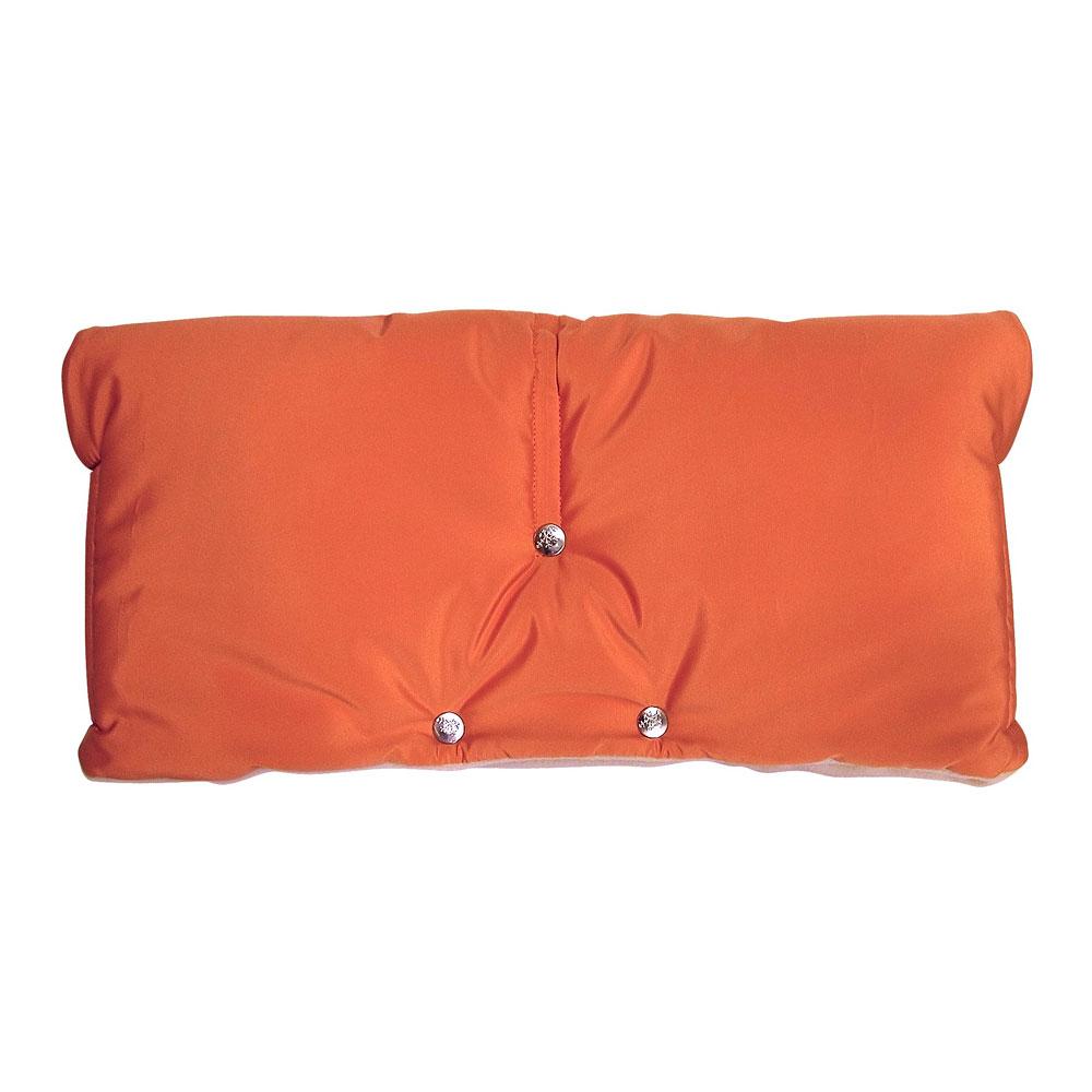 Муфта для коляски Чудо-Чадо флисовая (на липучке) Оранжевый<br>