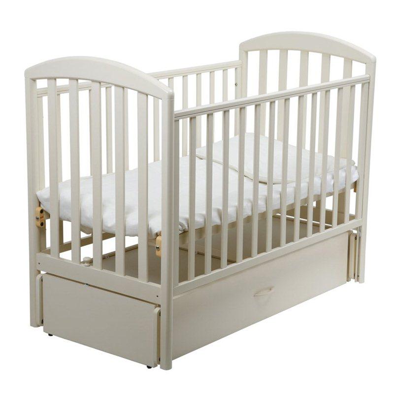 Кроватка Papaloni Джованни 120х60 маятник продольный Слоновая кость<br>