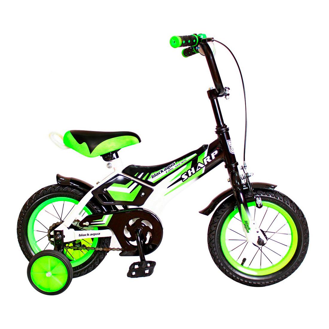 Велосипед двухколесный RT BA Sharp 12 KG1210 Зеленый<br>