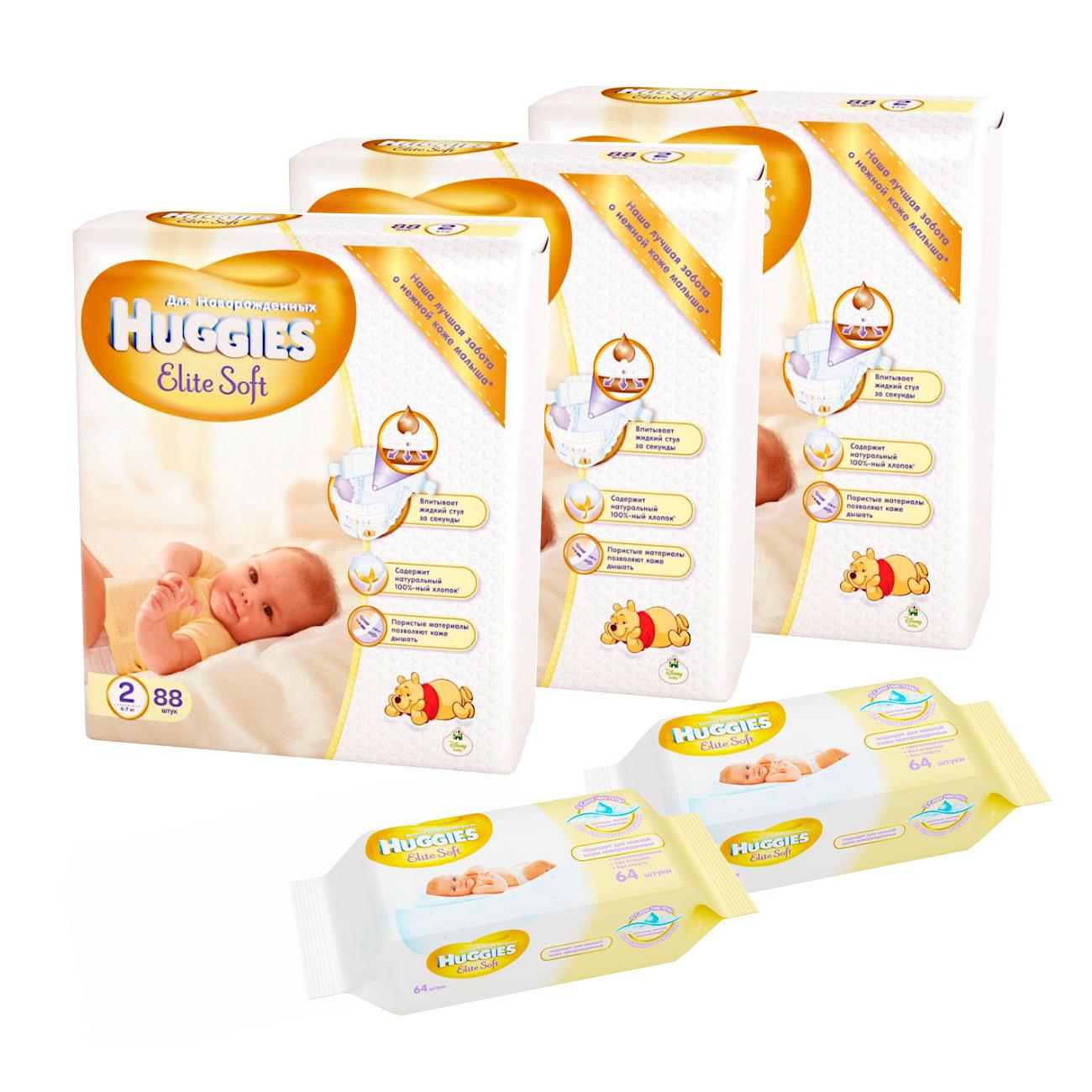 Набор Huggies № 1 Элитная защита и мягкость для новорожденных<br>