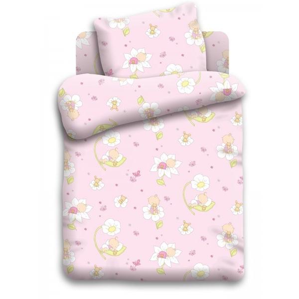 Комплект постельного белья детский бязь Непоседа Кошки-мышки Малыши Розовый<br>