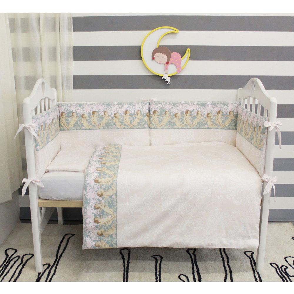 Комплект в кроватку ByTwinz 6 предметов Ангелы<br>
