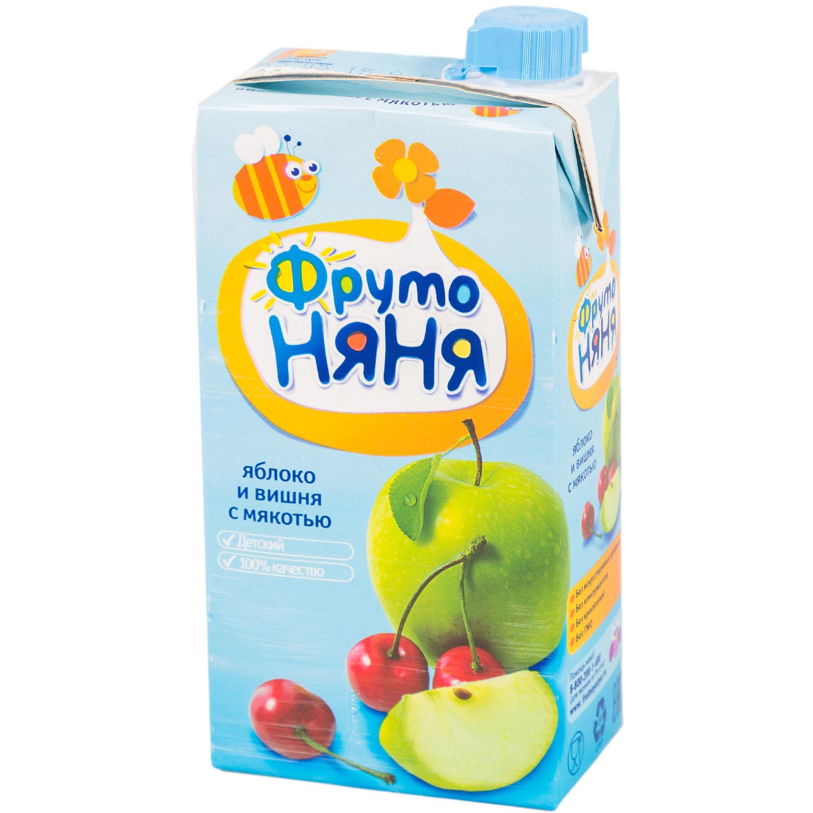 Сок Фрутоняня 500 мл Яблочно-вишневый с мякотью (с 3 лет)<br>