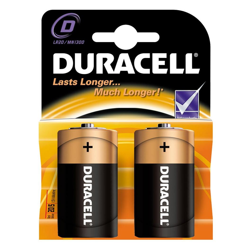Батарейки Duracell 2 шт. D LR20 (большая)<br>