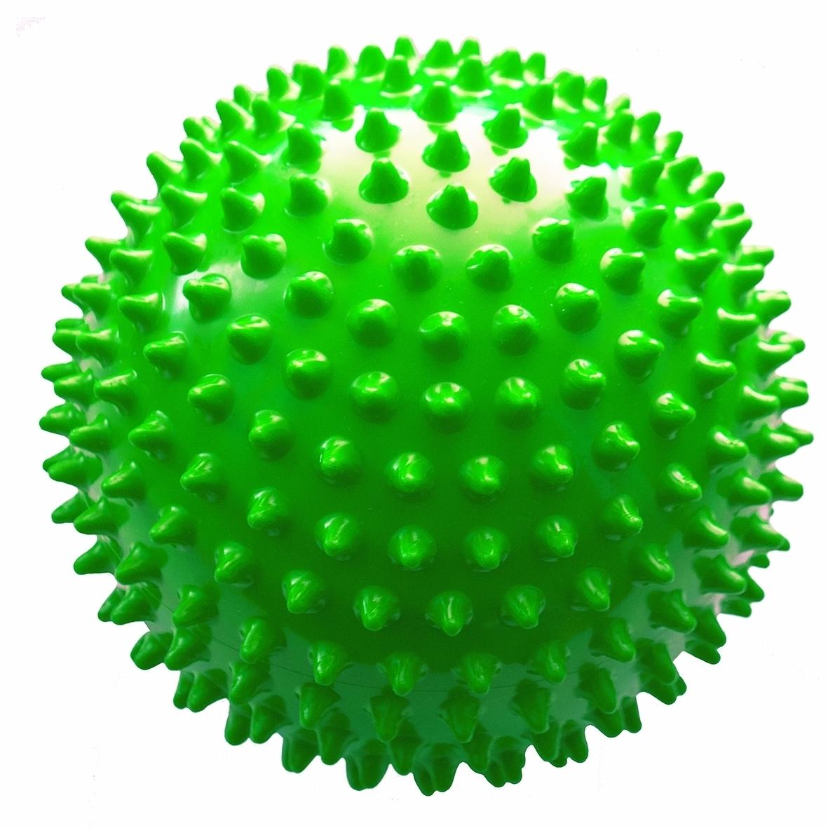 Мяч ежик МалышОК 8,5 см (в пакете) зеленый<br>