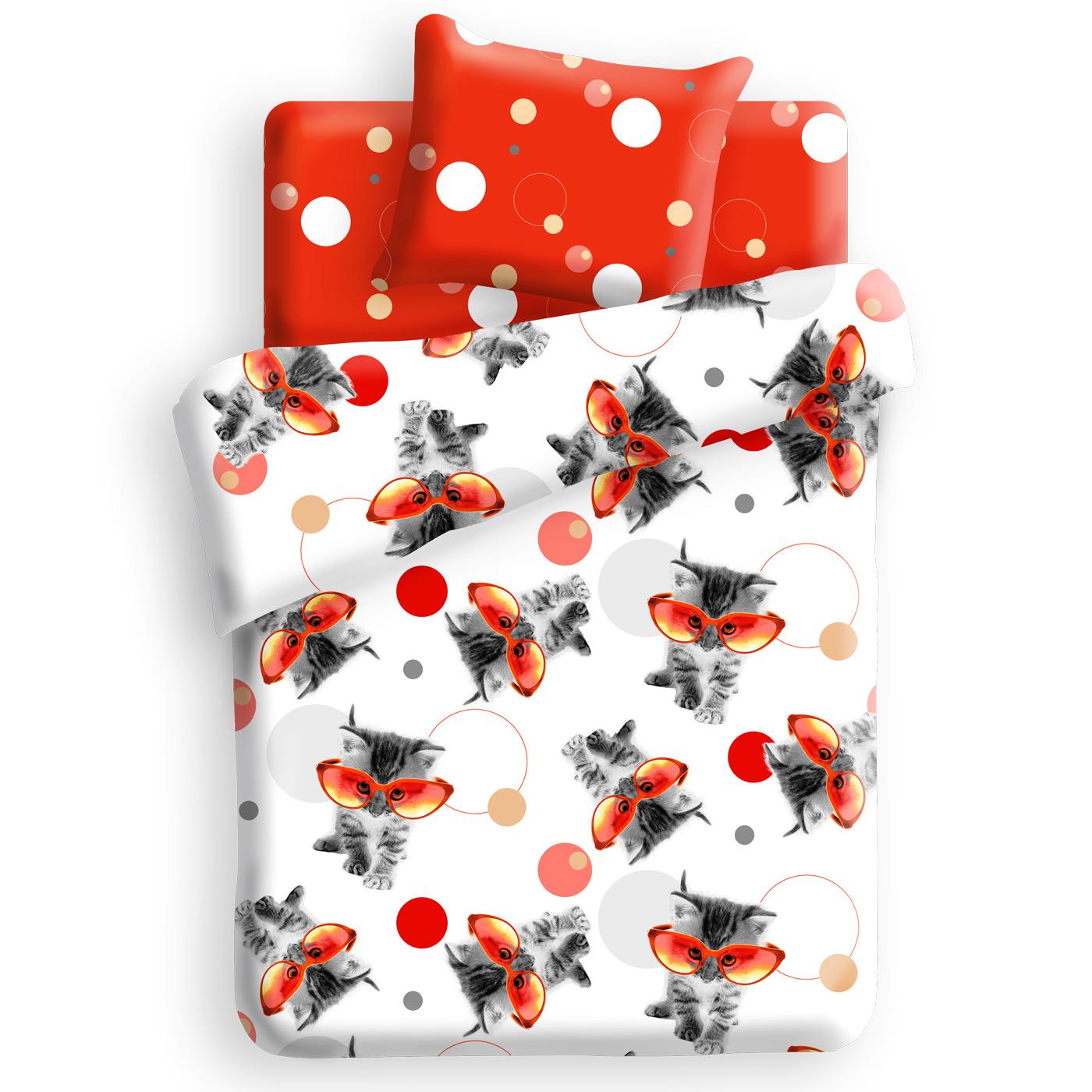 Комплект постельного белья детский 1.5 бязь Непоседа For you с наволочкой 70х70 Оранжевый<br>