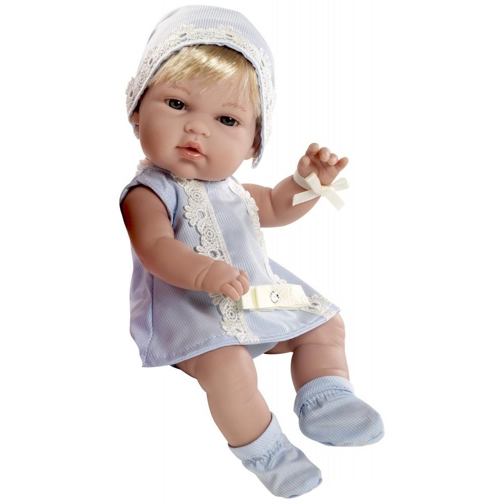 Кукла Arias 33 см Swarowski пупс блондинка в голубом платье со стразами<br>