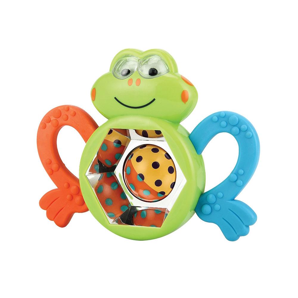 Погремушка Happy Baby Веселый лягушонок FROGUS с 3 мес.<br>