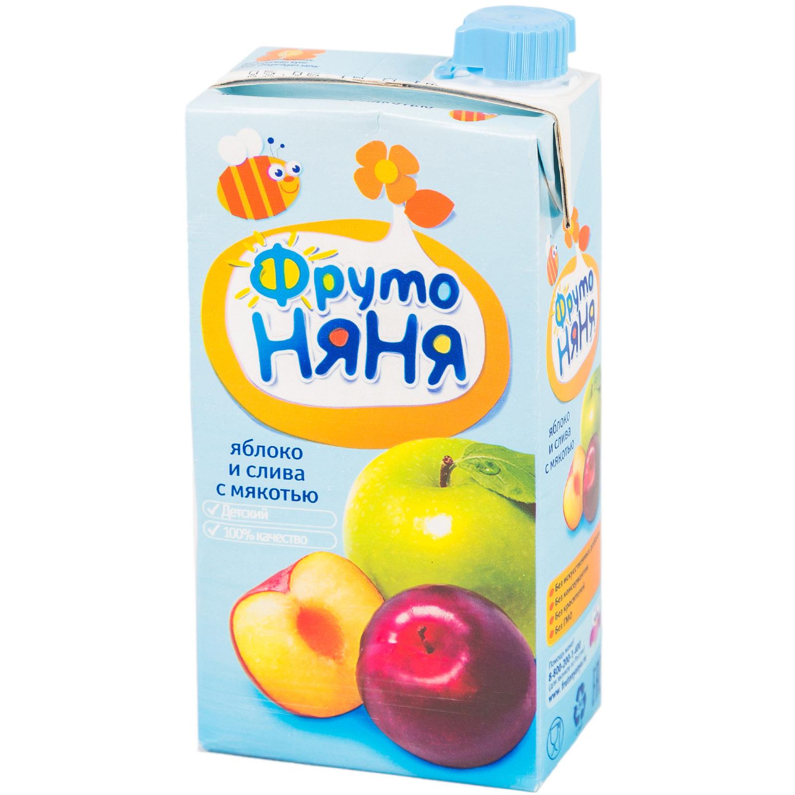 Сок Фрутоняня 500 мл Яблочно-сливовый с мякотью (с 3 лет)<br>