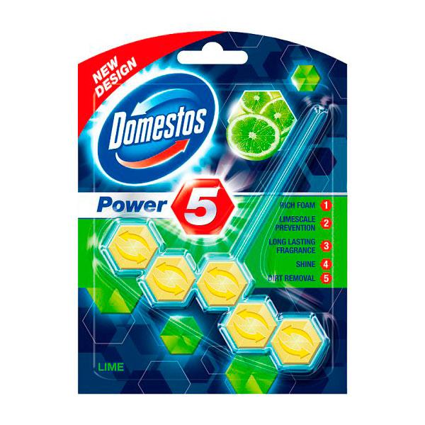 Блок Domestos для очищения унитаза Power 5 свежесть лайма 55 гр<br>