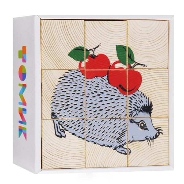 Кубики Томик Животные леса (9 кубиков)<br>