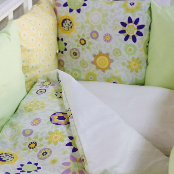 Комплект в кроватку ByTwinz с бортиками-подушками 6 предметов Валенсия<br>