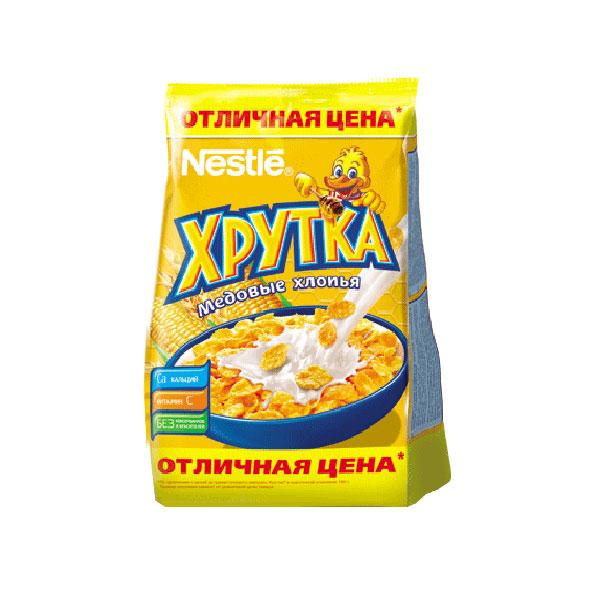 Готовые завтраки Nestle 300 гр. Хрутка медовые (кукурузные хлопья)<br>