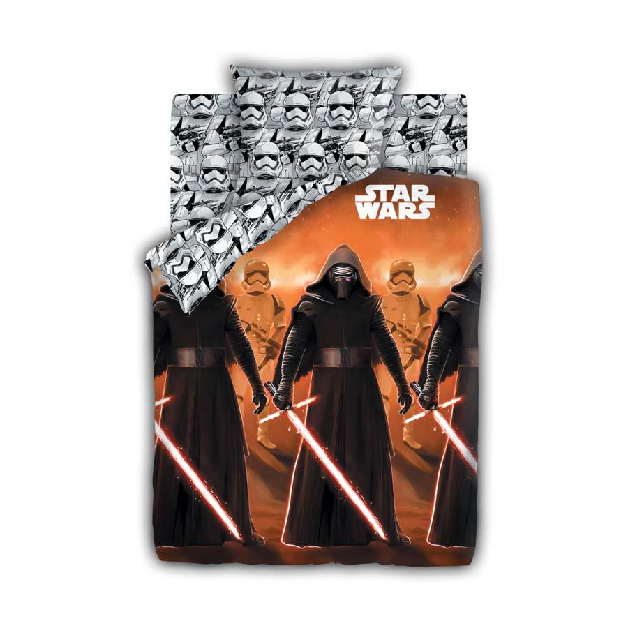 Комплект постельного белья детский 1.5 бязь Непоседа Star Wars с наволочкой 70х70 Кайло Рен<br>