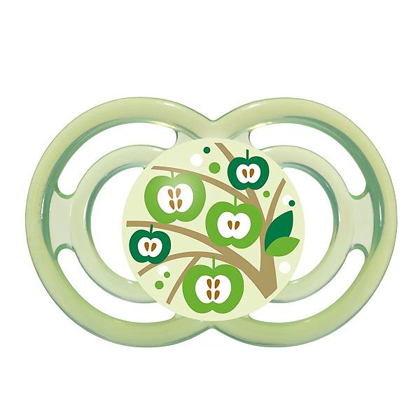 Пустышка MAM Perfect Силиконовая (с 6 мес) зеленая (яблоко)<br>