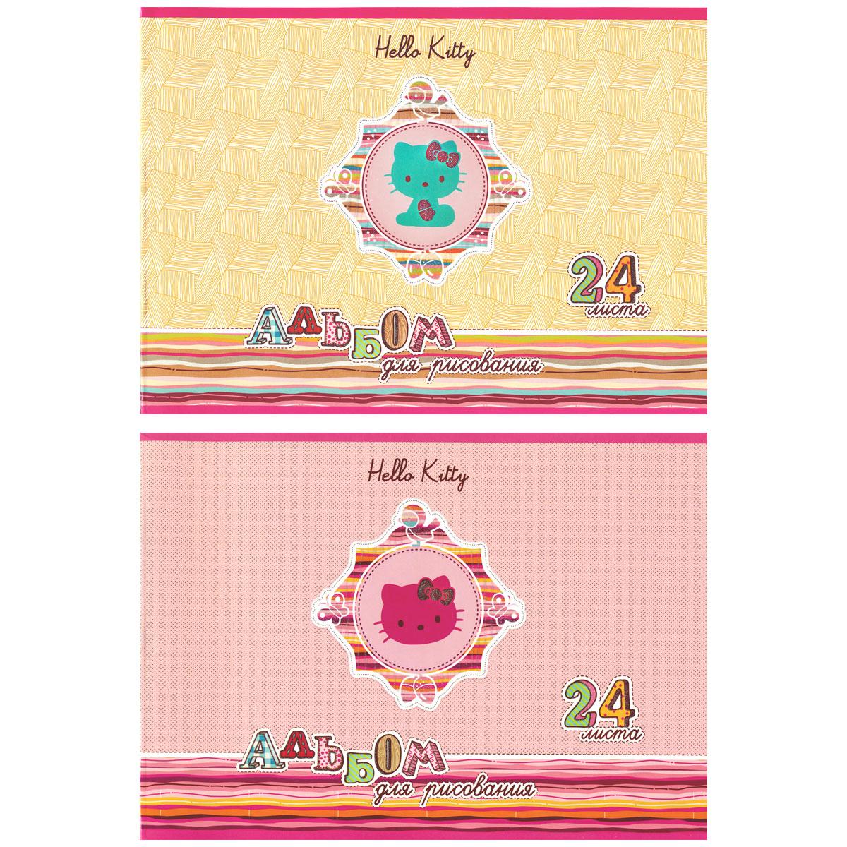Альбом для рисования ACTION! HELLO KITTY 24 листа 2 дизайна
