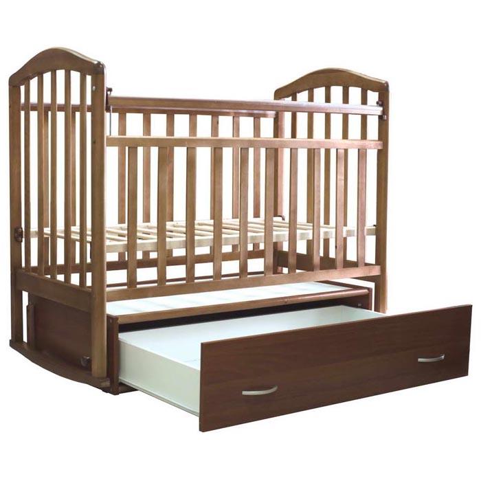 Кроватка Антел Алита-4 маятник поперечнного качания, закрытый ящик Орех<br>