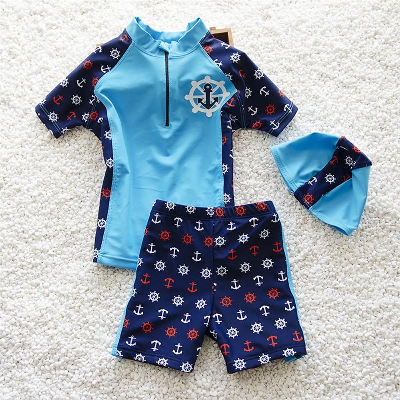 Купальный костюм Duoxibeier Маленький капитан (синий) рост 95-115<br>