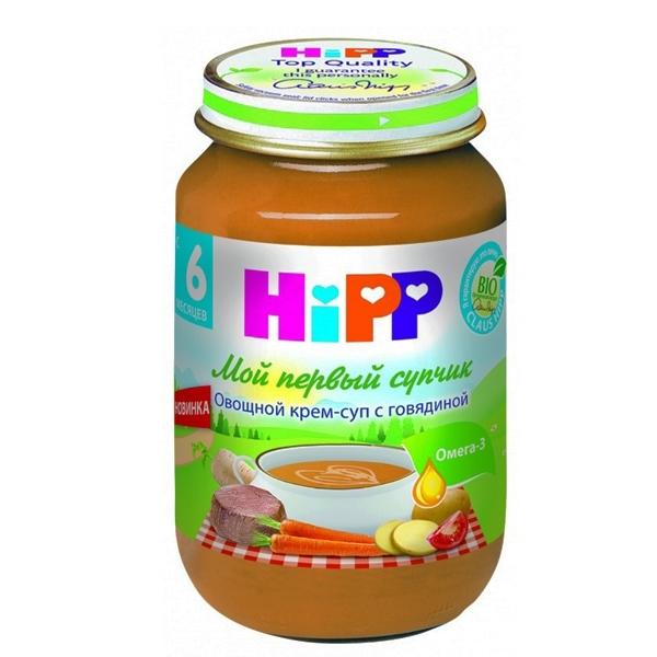 Пюре Hipp Мой первый супчик 190 гр Овощной с говядиной (с 6 мес)<br>