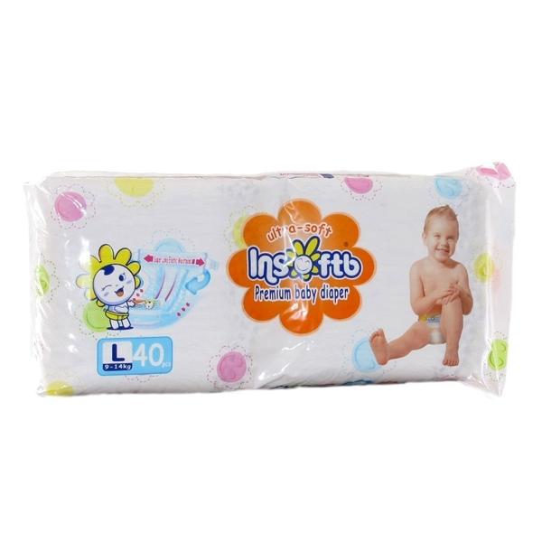 Подгузники Insoftb Premium Ultra-soft 9-14 кг (40 шт) Размер L<br>