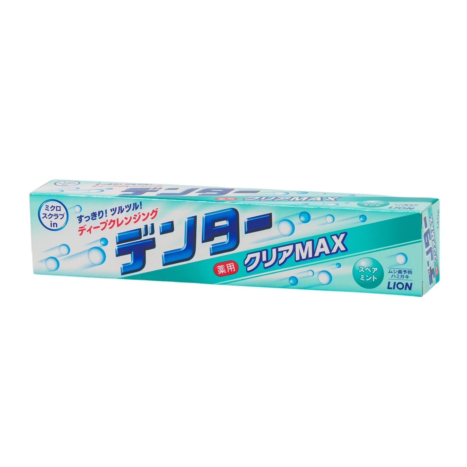 Зубная паста Lion Dentor Clear MAX для защиты от кариеса с микрогранулами (с ароматом мяты) 140 гр<br>