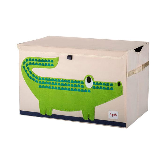 Сундук для хранения игрушек 3 Sprouts Крокодил (Green Crocodile) Арт. 08083<br>