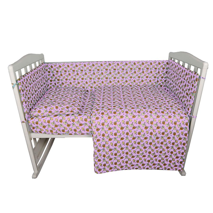Комплект в кроватку Bambola 6 предметов Малышок Розовый<br>