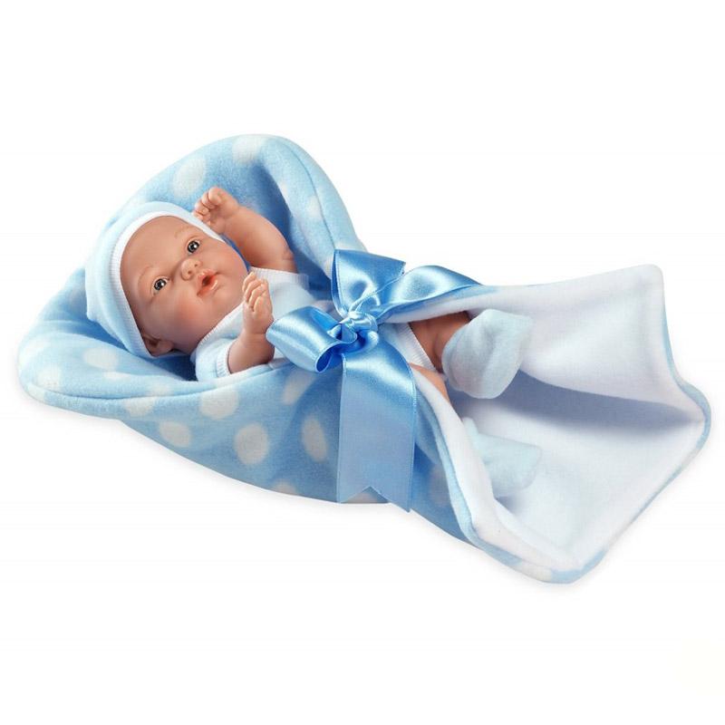 Кукла Arias 26 см Пупс в конверте с атласной лентой Голубой<br>