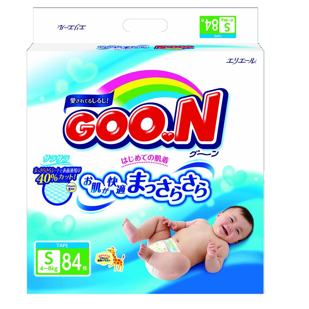 Подгузники Goon Econom 4-8 кг (84 шт) Размер S<br>