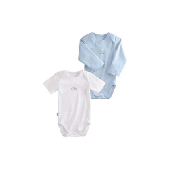 Комплект Наша Мама Be happy боди (2 шт) рост 74 белый, голубой<br>