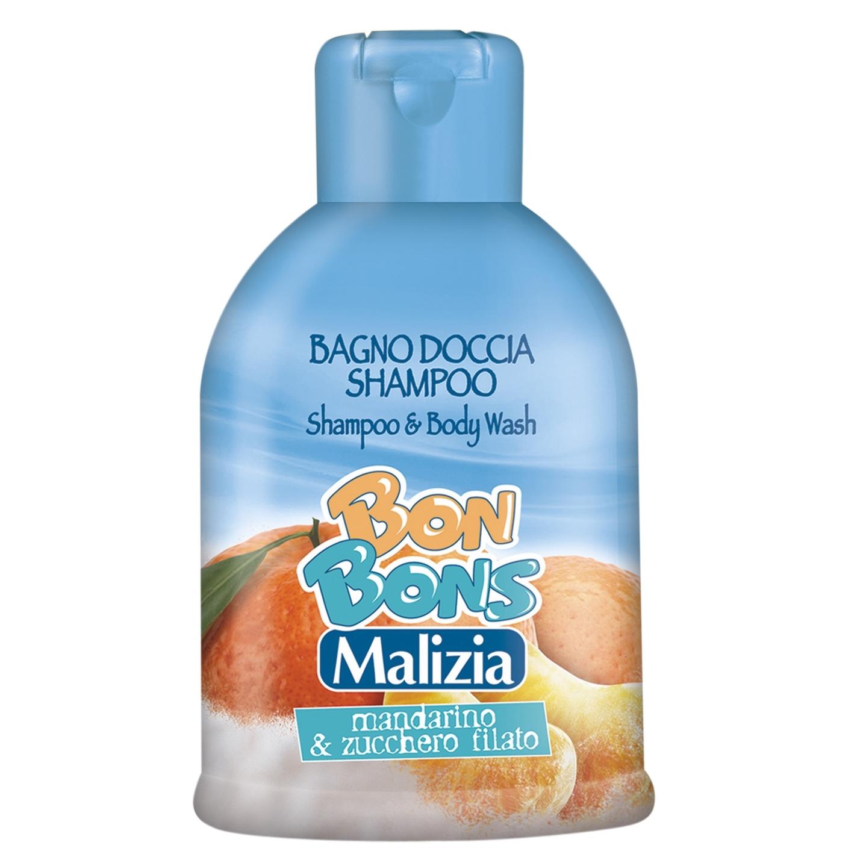 Шампунь-гель Malizia Bon Bons для душа Mandarin &amp;amp; Сotton candy 500 мл<br>