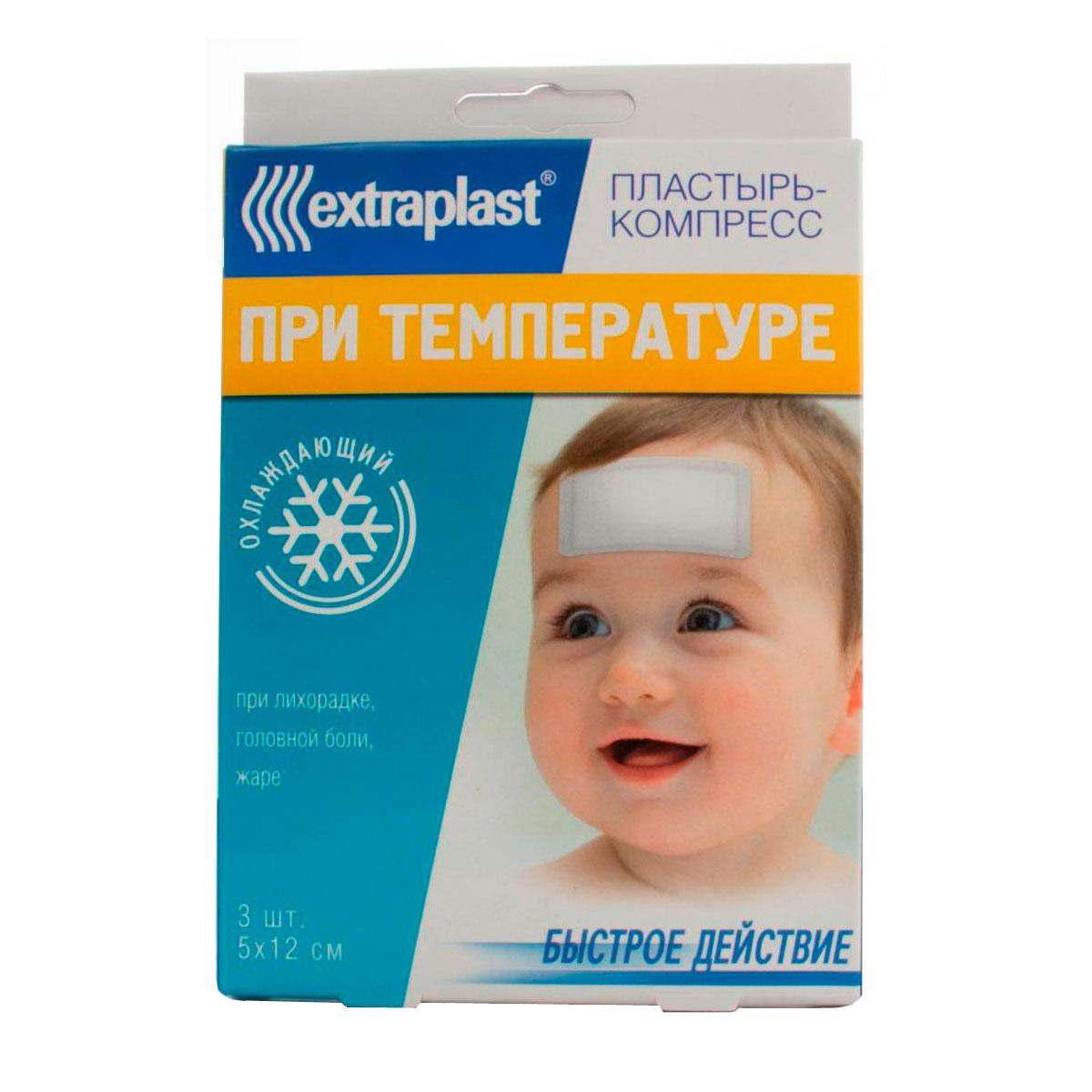 Пластырь Extraplast При температуре 5 х 12 см 3 шт<br>