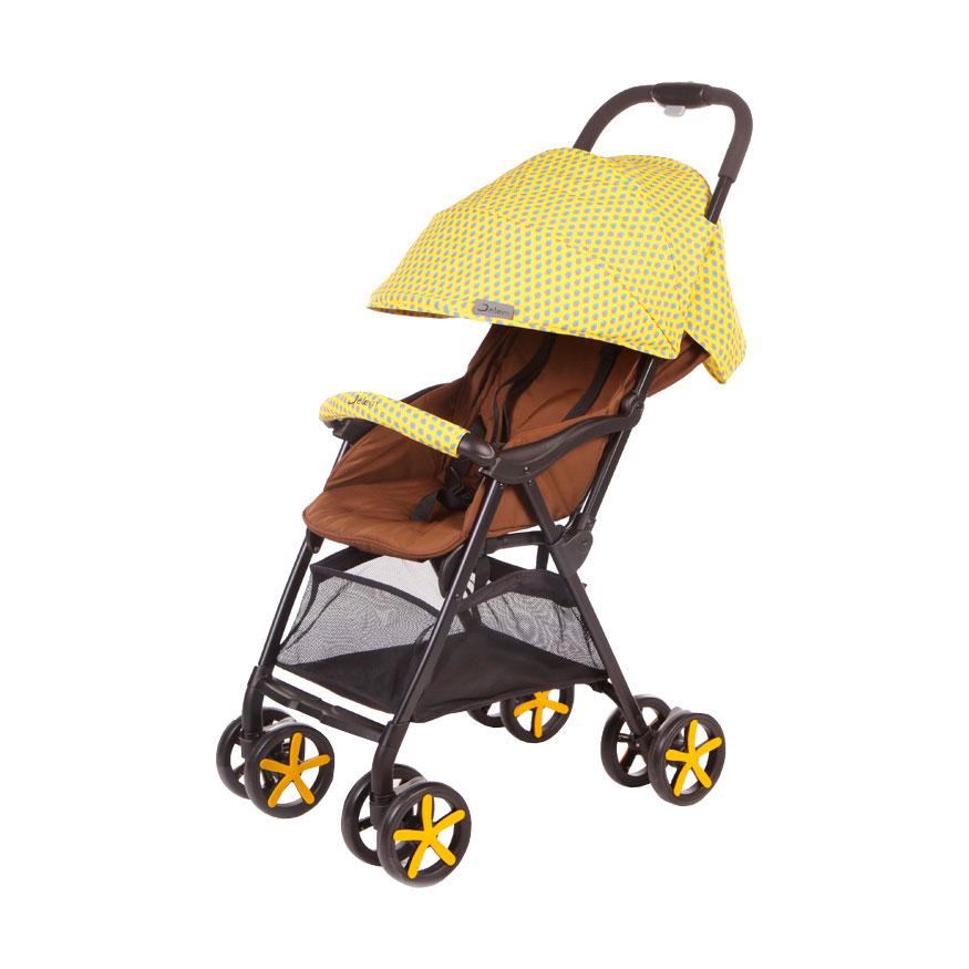 Коляска прогулочная Jetem Carbon Желтая<br>