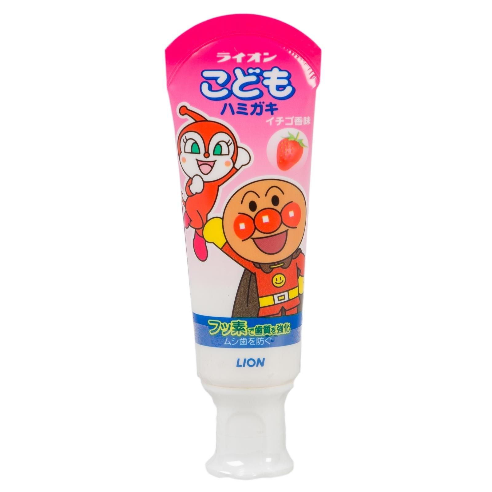 Зубная паста Lion Kodomo 60 мл со вкусом клубники<br>