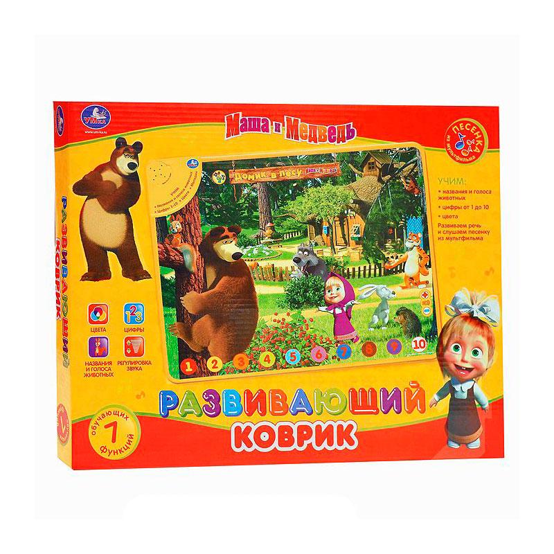 Развивающий коврик Умка Маша и медведь Дикие животные<br>