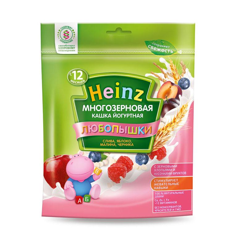 Каша Heinz Любопышка многозерновая молочная 200 гр Слива яблоко малина черника (с 12 мес)<br>
