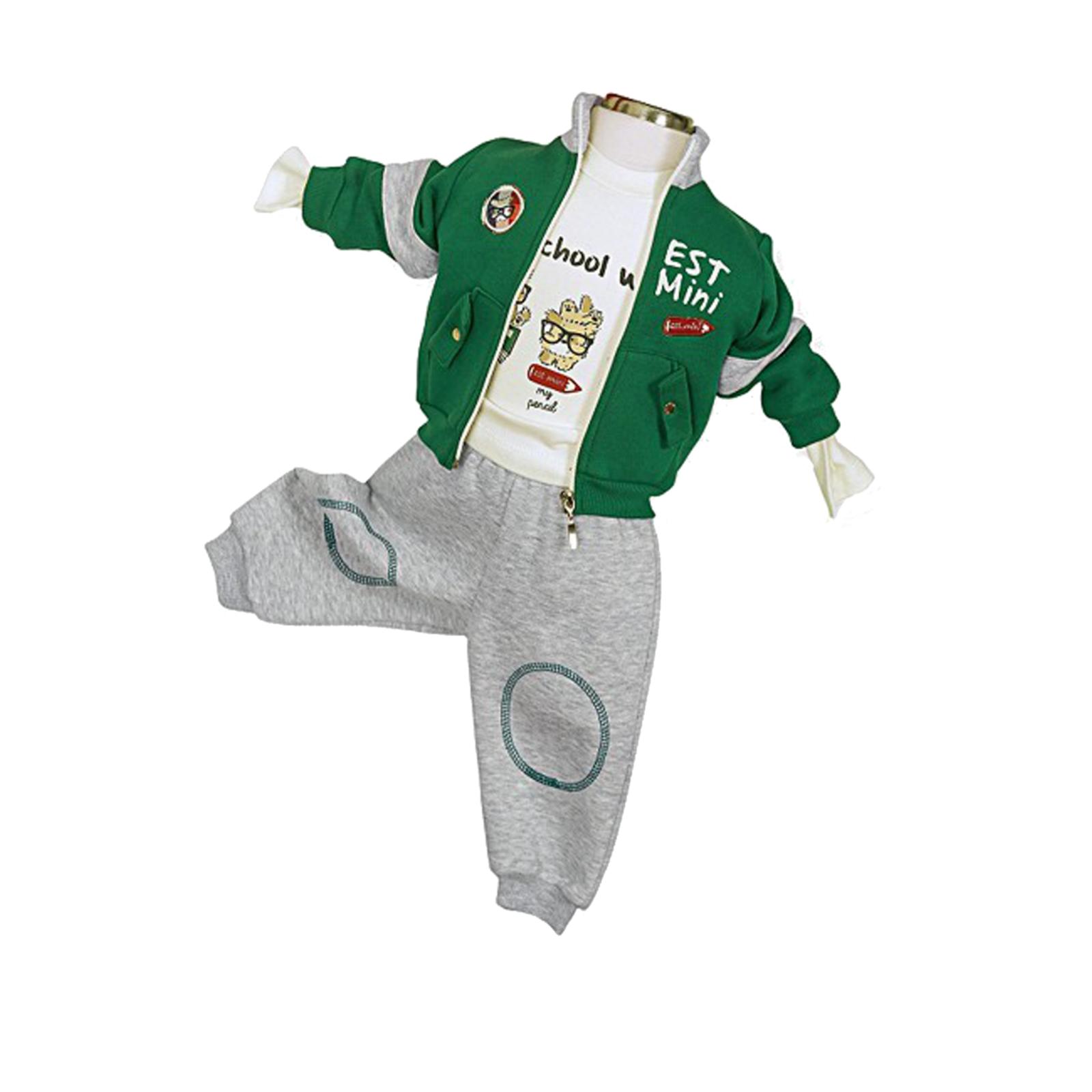 Комплект одежды Estella для мальчика, брюки, толстовка, кофта, цвет - Зеленый Размер 68